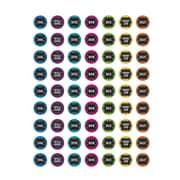 Chalkboard Brights Mini Stickers Multicolor, 387/pkg (TCR5626)