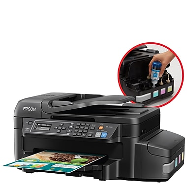 Epson WorkForce ET-4550 EcoTank Wireless All-in-One Inkjet Printer with Scanner, Copier and Fax