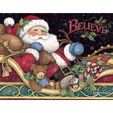 Lang Believe Santa Boxed Christmas Cards, 1 Design, 18 Cards/Box