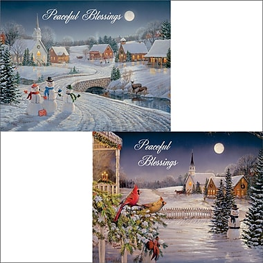 Lang Meadowlands Church Christmas Cards, Assorted Boxed, 2 Unique Designs, 18 Cards/Box