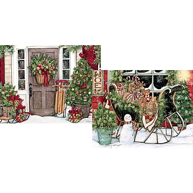 Lang Heart & Home Christmas Christmas Cards, Assorted Boxed, 2 Unique Designs, 18 Cards/Box