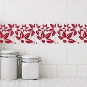 Odhams Press Retile Hibiscus Wall Decal (Set of 10); Red on White