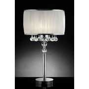OK Lighting Pure Essence 31'' H Table Lamp with Drum Shade