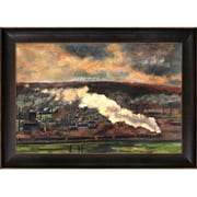 Tori Home The Train by Claude Monet Framed Painting Print
