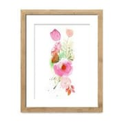 Mai Autumn Flower Band by Christine Lindstrom Framed Painting Print; 20'' H x 16'' W
