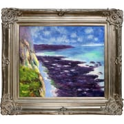 Tori Home Cliff Near Dieppe by Claude Monet Framed Painting