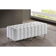 Wholesale Interiors Baxton Studio Constellations Upholstered Bedroom Bench; White