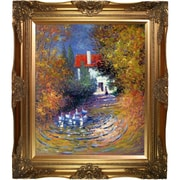 Tori Home Geese in the Creek by Claude Monet Framed Painting Print