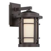 Designers Fountain Barrister 1 Light Outdoor Wall Lantern; 14.5'' H x 9'' W x 10.5'' D