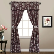 United Curtain Co. Carrington Valance and Tier Set; Chocolate