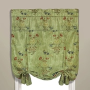 United Curtain Co. Jewel Tie-Up Shade; Green