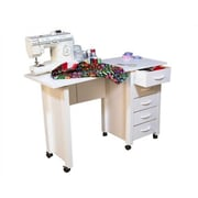 Venture Horizon VHZ Office 43'' W Mobile Craft Computer Desk; White