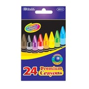 Bazic 24 Color Premium Quality Crayon Set; Case of 72