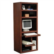 Rush Furniture Charles Harris Computer Desk with Armoire; Dark Cherry