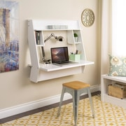 Wildon Home   Studio Floating Desk with Hutch