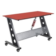Pit Stop Furniture Racing Style Writing Desk; Red