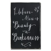 BarnOwlPrimitives I Believe there Is Beauty in Brokeness Textual Art Plaque
