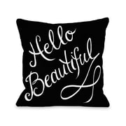One Bella Casa Hello Beautiful Stripes Polyester Throw Pillow; 16'' x 16''