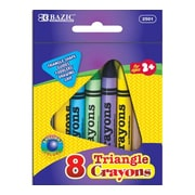 Bazic 8 Color Premium Quality Triangle Crayon; Case of 72