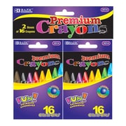 Bazic 16 Premium Quality Crayon (Set of 2); Case of 72