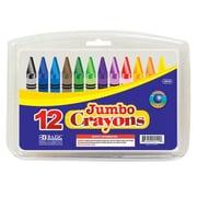 Bazic 12 Color Premium Quality Jumbo Crayon Set; Case of 72