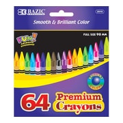 Bazic Premium Quality Color Crayon Set (Set of 24); Boxes of 48