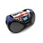 Akai CE2000 Portable CD Boombox, USA Flag