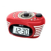 Akai Retro Red Alarm Clock Radio (ce1100r)