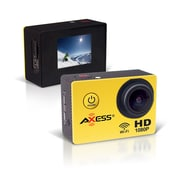 Axess  cs3602 Full HD 1080p Action Sports Camera, 2.65 mm, Yellow