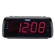 Naxa  NRC-180 Bluetooth Easy-Read Dual Alarm Clock Radio, Black