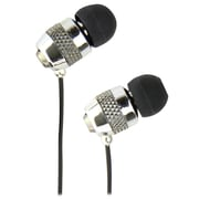 QFX  H-301M Universal Handsfree Earphones with In-Line Microphone, Silver