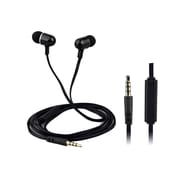 QFX  H302M Universal Handsfree Earphones with InLine Microphone, Black