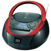 QFX  j-71 CD/Cassette/MP3 Stereo Player, Black/Red