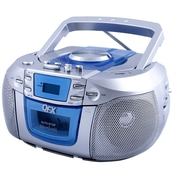 QFX  j15u Portable Radio, Silver/Blue