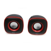 QFX  CS-256 2.0 USB Powered Multimedia Speaker System, Black/Red