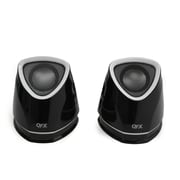 QFX  CS-257 2.0 USB Powered Multimedia Speaker System, Black/White