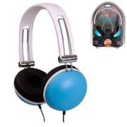 QFX  H513 Brain Freeze 3in1 Stereo Headphones Combo, Blue