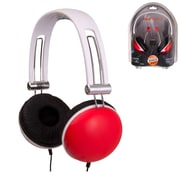 QFX  H513 Brain Freeze 3in1 Stereo Headphones Combo, Red