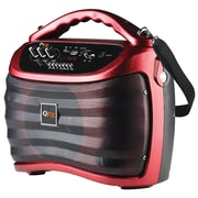QFX  PBX505100BT Battery Powered Portable Bluetooth Party Mini Speaker, Red