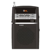 QFX  R28 2Band AM/FM Radio, Black