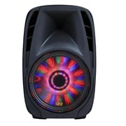 QFX  PBX-71100BTL Bluetooth Portable Party PA Speaker, Black