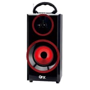 QFX  CS168 Bluetooth Multimedia Speaker, Red