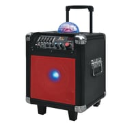 QFX  PBX-507100BT Bluetooth Portable Mini Party Speaker, Red