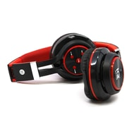 Supersonic  IQ126BT Bluetooth Headphone with Microphone, Red