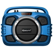 Supersonic  IQ Sound  IQ2401BT Bluetooth Portable Wireless Audio System, Blue