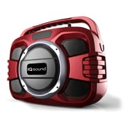 Supersonic  IQ Sound  IQ2401BT Bluetooth Portable Wireless Audio System, Red