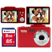 vivitar  iTwist F124 s124 14.1 MP Digital Camera, Red
