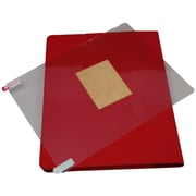 GameFitz Tri-Fold Folio Case Bundle with Screen Protector for iPad, Red