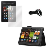 Mgear Screen Protector, Folio and Charger for Kindle Fire HDX 3Gen (91572)