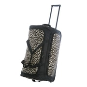Olympia 26'' Fashion Rolling Duffle Bag; Leopard
